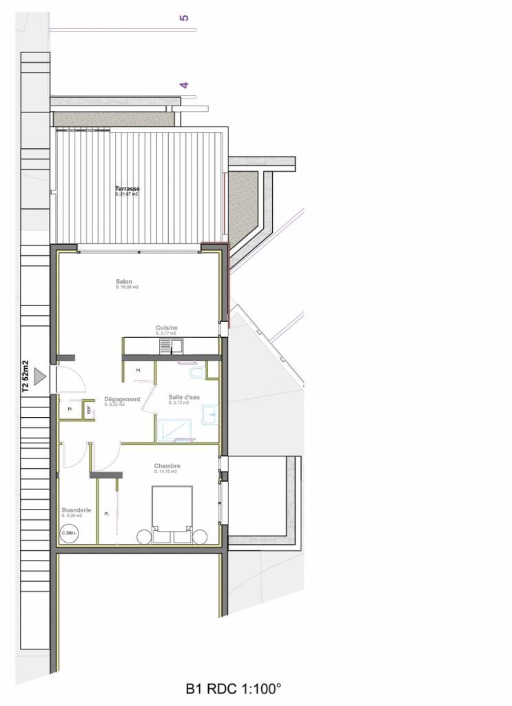 vente appartement t2 ste lucie de porto vecchio. Black Bedroom Furniture Sets. Home Design Ideas