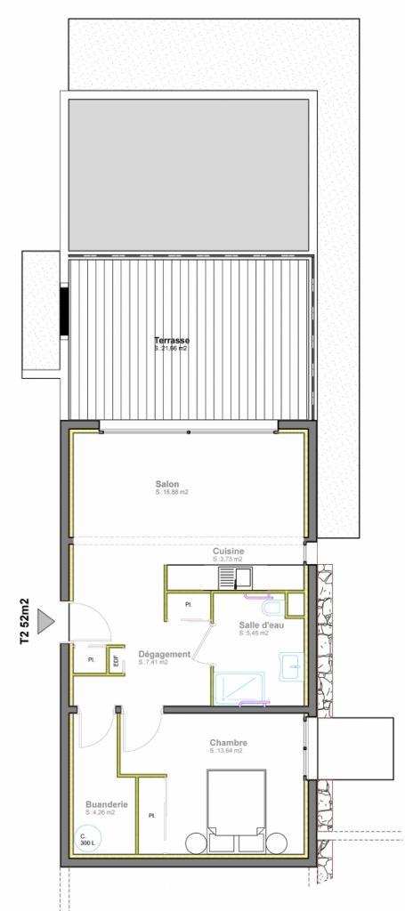 vente appartement t2 porto vecchio. Black Bedroom Furniture Sets. Home Design Ideas