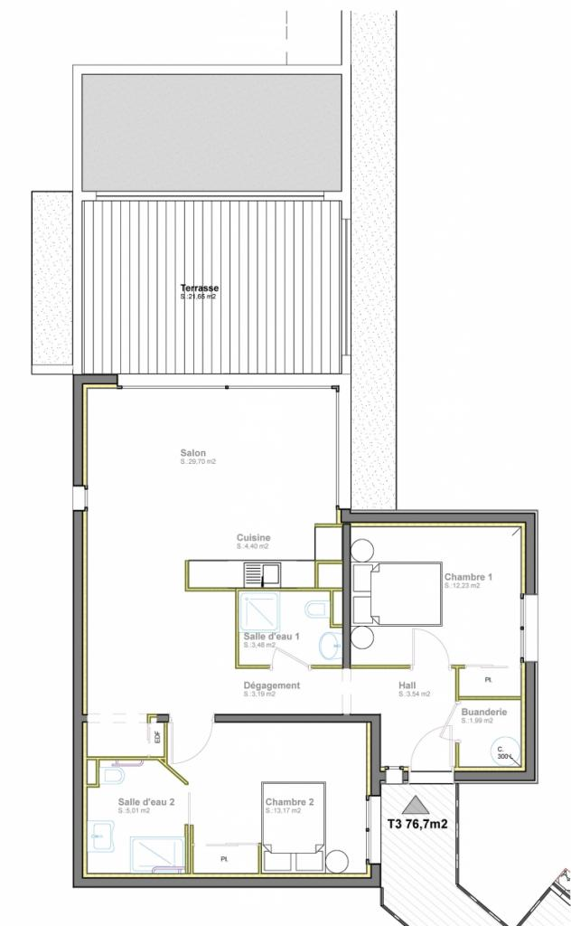 Vente Appartement T3 Ste Lucie De Porto Vecchio